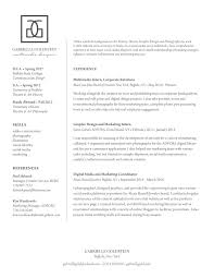 Copywriting Resume Resume U2013 Gabrielle Goldstein
