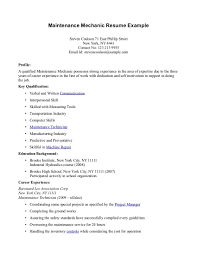 Maintenance Sample Resume Diesel Generator Technician Resume A C Mechanic Sample Resume