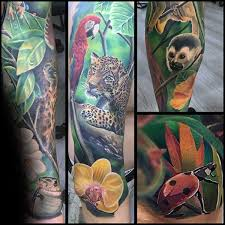 tropical flower sleeve style by modernstork com
