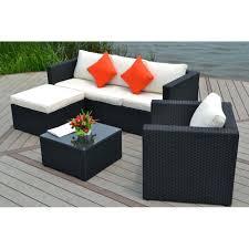 canapé d angle de jardin stunning salon de jardin canape d angle resine tressee noir tropical