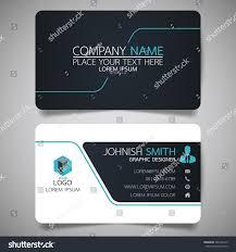 blue black modern creative business card stock vector 566378143