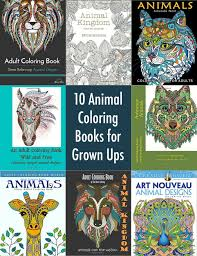 10 animal coloring books for grown ups diycandy