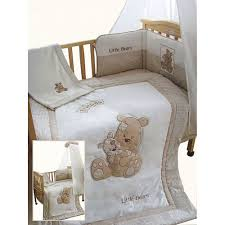 Cot Bumper Sets Snuggle Bed Little Bears Cream 5 Piece Cot Cotbed Bedding Set