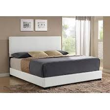 Leather Bed Headboards Best 25 White Leather Bed Frame Ideas On Pinterest Bed Head