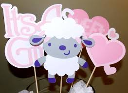 sheep baby shower centerpieces baby lamb it u0027s a