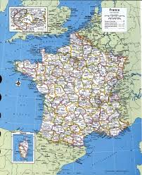 A Map Of France by Large Detailed Administrative And Political Map Of France With All