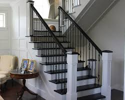 How To Install Stair Banister Planning Interior Stair Railing Translatorbox Stair