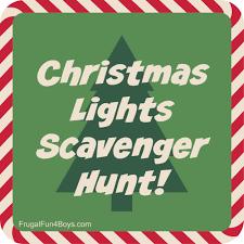 thanksgiving treasure hunt christmas lights printable scavenger hunt
