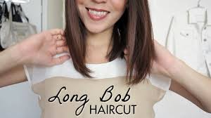 hairstle longer in front than in back long bob haircut tutorial how to cut your own hair lynsire