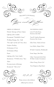 wedding program outline template wedding reception program templates europe tripsleep co