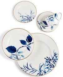 kate spade new york birch way indigo dinnerware collection