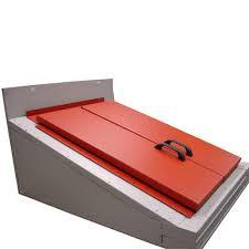 gordon cellar door 48 1 2 in w x 67 in h primed red steel cellar