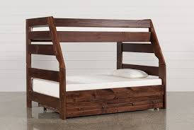 Sedona TwinFull Bunk Bed WTrundle  Mattress Living Spaces - Living spaces bunk beds