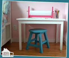 White Children S Desk by Ana White Kids Trestle Style Play Table Diy Projects