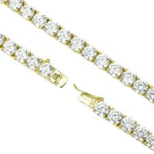 6mm diamond 6mm diamond tennis chain in gold new the gold gods jewelry