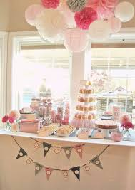pink baby shower shades of pink gray baby shower party ideas photo 1 of 64