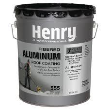 henry 4 75 gal 555 premium aluminum roof coating he555019 the