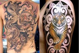beautiful and tiger picture tattoomagz