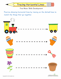 line tracing fun with horizontals preschool worksheets free