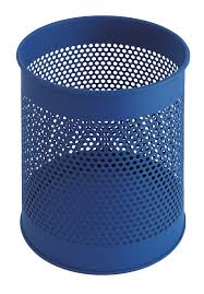 perforated waste paper bins available in 4 colours 15 litre