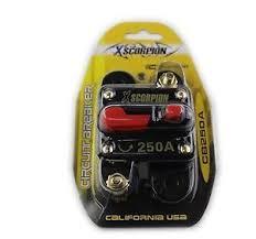 xscorpion 250 12 volt circuit breaker fuse holder car audio