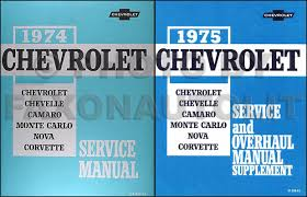1974 chevy repair shop manual original impala caprice chevelle el