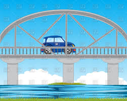 teal car clipart bridge through river and car vector clipart image 93953 u2013 rfclipart