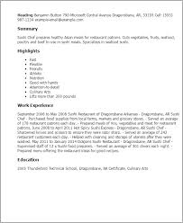 Culinary Resume Examples by Professional Sushi Chef Templates To Showcase Your Talent