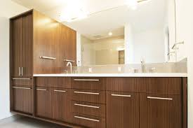 create contemporary look with mid century modern bathroom vanity