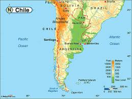 chile physical map chile physical map by maps from maps world s largest