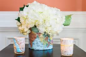 Diy World Map by How To Make A Map Embellished Vase 10 Tips For Easy Entertaining