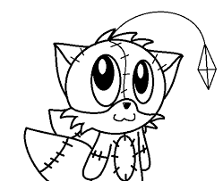 tails doll coloring pages tails doll lineart paokamon