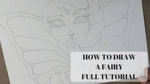 how to draw a fairy full tutorial youtube