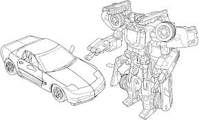 Transformers Coloring Pages Car And Robot Free Printable 6284 Transformer Color Page