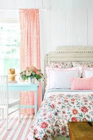 beautiful pink curtain and striped carpet for pretty bedroom ideas