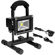 Outdoor Emergency Light - le 10w led rechargeable portable work light waterproof flood