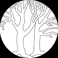 bare tree coloring page images pictures becuo clip art library