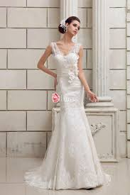 fit and flare wedding dress custom illusion v neck fit and flare lace wedding dress lunss