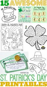 15 awesome st patrick u0027s day free printables for kids