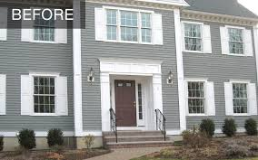 before and after transforming a traditional colonial home