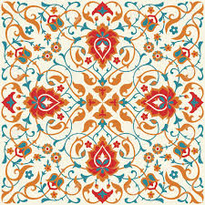 Ottoman Design Floral Tile Design In Eastern Style Traditional Ornate Background