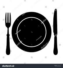 Kitchen Forks And Knives Dish Fork Knife Stock Illustration 182849774 Shutterstock