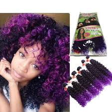 ombre marley hair ombre brown marley braid hair kinky curly peruvian curly 6 bundles