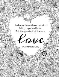 the greatest of these is love coloring page and more free pages