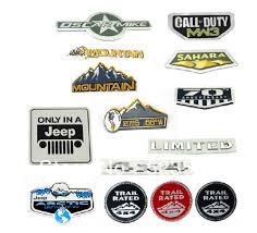 jeep wrangler logo decal free ship sahara badge decal emblem for jeep grand cherokee