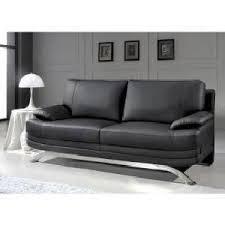 canape en cuir canapé cuir noir 3 places romeo achat vente canapé sofa