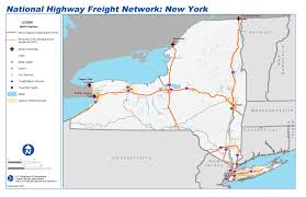 Map Of Albany New York by National Highway Freight Network Map And Tables For New York