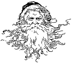 vintage santas clip art and black and white on pinterest