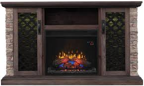 classicflame brushed homestead capitan tv stand from twin star