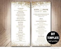 Elegant Wedding Program 291 Best Wedding Templates Diy Weddings Images On Pinterest